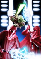Yoda vs Imperial Guards by Robert-Shane