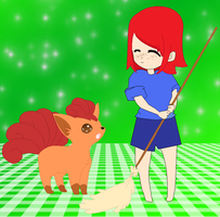 PC: Angela and Vulpix by judai-yuuki