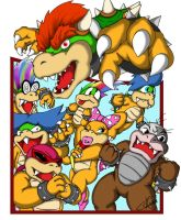 Bowser and his Koopalings by ShinFox