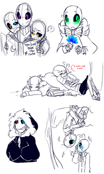 Little Gaster Gang and some... by Bunnymuse