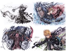 Kingdom Hearts 2.5 HD Remix Assorted Art 2 by Nick-Ian