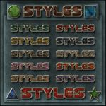 STYLES   Old colors metallic by Tetelle-passion