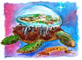 Great A'Tuin by Holly-Toadstool