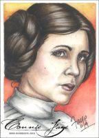 Leia Carrie Fisher PSC by ConnieFaye by ConnieFaye