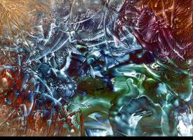 Encaustic Abstract by Rynozerus