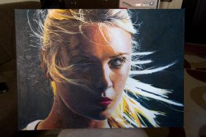 Oil Paint Maria Sharapova by ahmetbroge