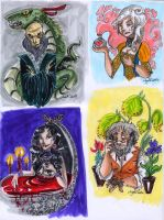 chocolate frogs cards by Agatha-Macpie