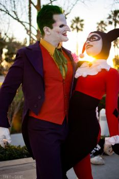 Joker and Harley Quinn - Villain Royalty by Enasni-V