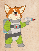 This is Space Corgi! by annieawesomesauce