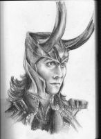 Sketchbook Scan : Loki by BowieKelly