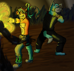 AT: Cyclone and Kelger by StromgradeDragon