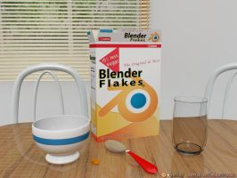 Eating Blender Flakes by ART-havoc