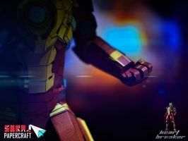 Iron Man mark 17 Heart Breaker Papercraft by suraj281191