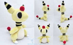 Ampharos Poketime Plush by dolphinwing