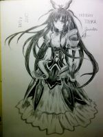 Tohka Yatogami in pencil ^^ by shiroiyukii