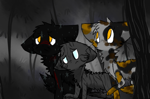in the dark forest by undead-feline