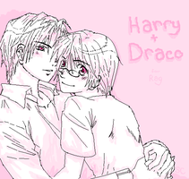 Harry + Draco Snuggle by SakiChiRocks