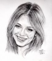 Pencil portrait of actress by chaseroflight