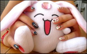 Nail Art: Mokona by LeleMJ