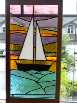 Sailboat Stained Glass. by darknessoverfear
