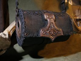 Thor's Hammer leather bag by morgenland