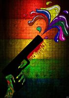 Rainbow Gun by jarhonix
