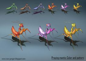 Mantis-color and pattern variation 2 by rastafic