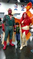 Comicpalooza 2015 - Vision and Phoenix cosplay by Imperius-Rex