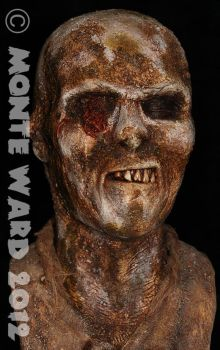 1:1 Fulci ZOMBIE Tribute resin bust close-up by dreggs88