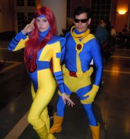 Phoenix and Cyclops by axel-fire