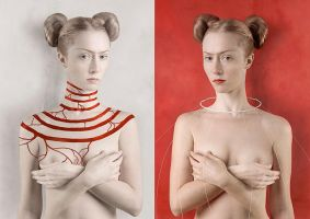 For Kahlo. Red and White by KaterinaBelkina