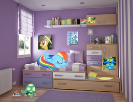 rainbow in her new room that i made for her by webkinzfun8