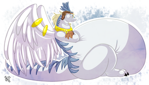 -Shiron WindDragon- by Puffed-Up