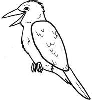 Laughing Kookaburra lineart (2012) by CherrySapphire