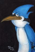 Mordecai of Regular Show Fame by Phraggle
