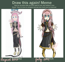 Draw this again - Vocaloid Megurine Luka by Purple-Nightmares