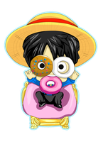 Wonderland Tea Party ~ Luffy by SuperMuffin92