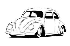 vw beetle lineart by GabeRios
