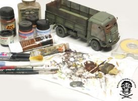 armored Fiat 626 painting weathering in progress by AlessandroBruschi