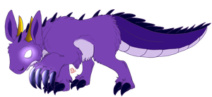 Purple Rabbit-Bear-Deer-Gator Thing by Zs99