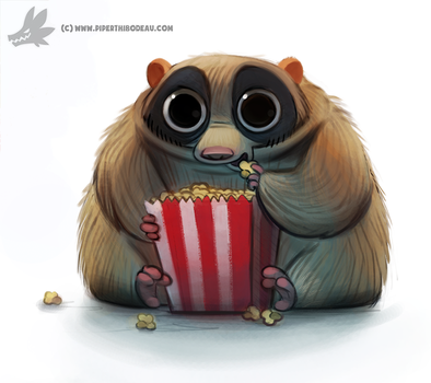 Daily Painting #928. Slow Loris by Cryptid-Creations
