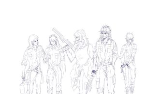 Rough sketch TeamK by BX211