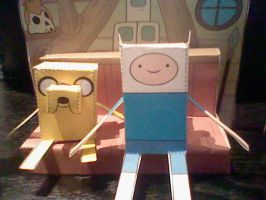 Adventure time cut-outs 2- F+J by J-craze
