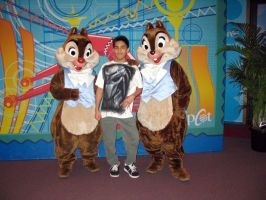 Me with Chip and Dale by RakaiThwei