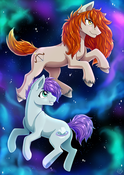 Space Hunter and MilkyWay by NothingSpecialx9