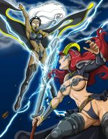 Queens Blade vs. Marvel: Claudette Vs. Storm by dovianax