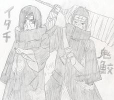 Itachi and Kisame by xboxdude7281