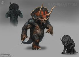 Triceratops Humanoid by Raph04art