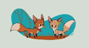 Foxes by tinysnail