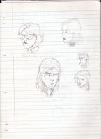 MC2 head sketches by frogoat
